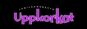 """Logo för revyn """"Uppkorkat"""""""