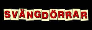 """Logo för revyn """"Svängdörrar"""""""
