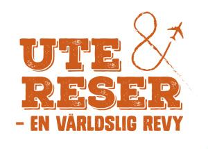 """Logo för revyn """"Ute & reser"""""""