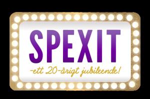 """Logo för revyn """"Spexit"""""""