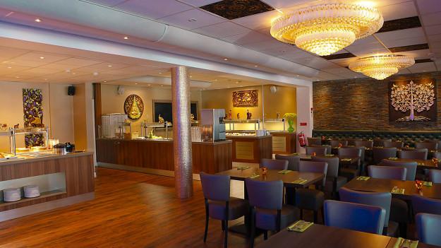 Interiören på restaurang Sisi i Falkenberg